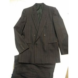 YSL  double breasted  plaid Pants Suit